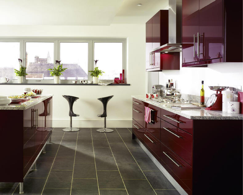 Kitchen Style  JAVA BURGUNDY  from Fitted Kitchens Direct  An