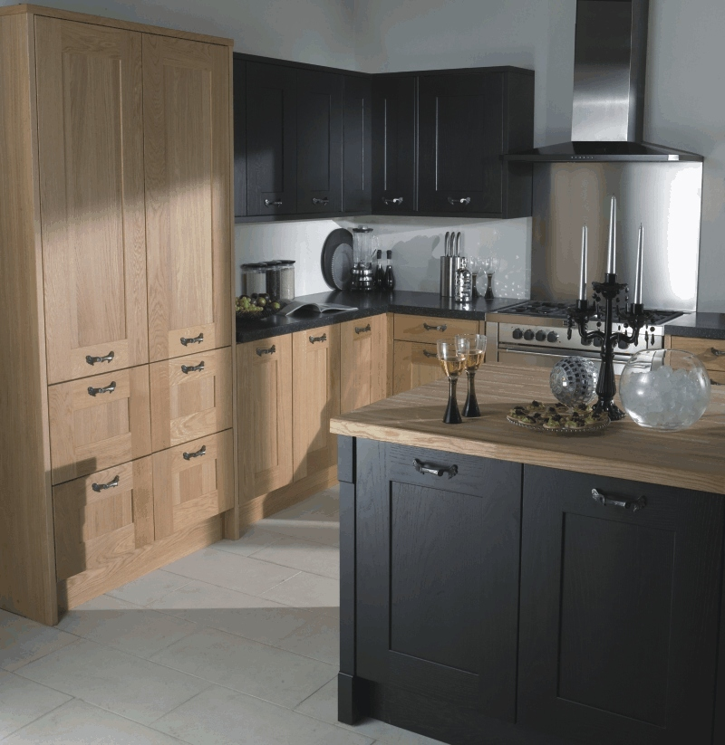 Kitchen style aston black from fitted kitchens direct for Brookwood kitchen cabinets